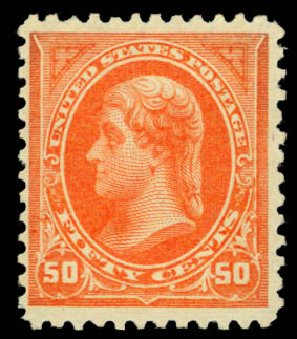 Values of US Stamp Scott # 260: 1894 50c Jefferson. Daniel Kelleher Auctions, Jan 2015, Sale 663, Lot 1522