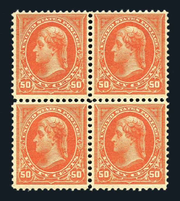 Costs of US Stamp Scott #260: 50c 1894 Jefferson. Harmer-Schau Auction Galleries, Aug 2015, Sale 106, Lot 1676