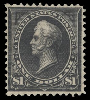 Cost of US Stamp Scott Catalog # 261 - US$1.00 1894 Perry. Daniel Kelleher Auctions, Aug 2015, Sale 672, Lot 2537