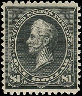 US Stamps Value Scott #261: US$1.00 1894 Perry. Regency-Superior, Aug 2015, Sale 112, Lot 507