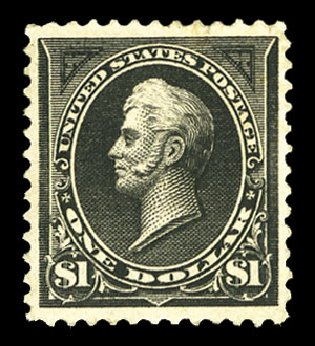 Prices of US Stamp Scott Catalogue 261: US$1.00 1894 Perry. Cherrystone Auctions, Jul 2015, Sale 201507, Lot 2088