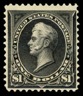 US Stamp Value Scott Catalogue # 261: 1894 US$1.00 Perry. Daniel Kelleher Auctions, May 2015, Sale 669, Lot 2779