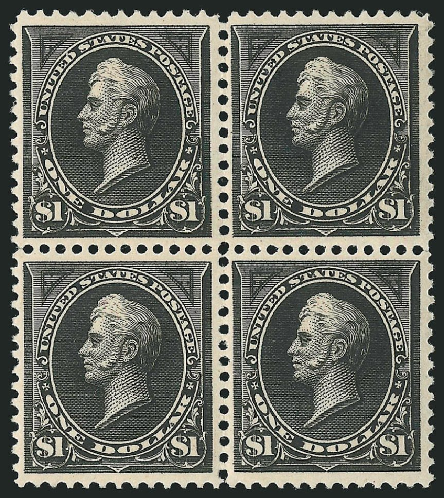 US Stamp Price Scott Cat. 261: US$1.00 1894 Perry. Robert Siegel Auction Galleries, Apr 2015, Sale 1096, Lot 459