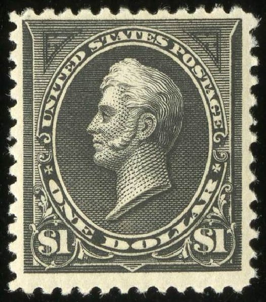 Values of US Stamp Scott Catalogue # 261: US$1.00 1894 Perry. Spink Shreves Galleries, Jul 2015, Sale 151, Lot 209