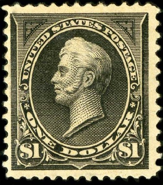 Values of US Stamp Scott Catalog 261 - US$1.00 1894 Perry. Spink Shreves Galleries, Jul 2015, Sale 151, Lot 210