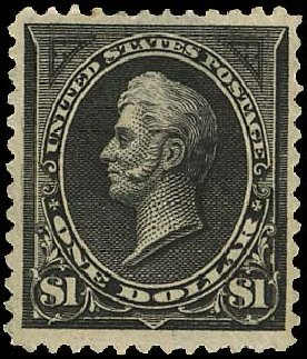 US Stamp Price Scott Catalogue # 261: US$1.00 1894 Perry. Regency-Superior, Aug 2015, Sale 112, Lot 511
