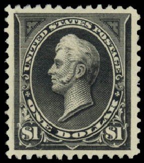 US Stamp Value Scott #261: 1894 US$1.00 Perry. Daniel Kelleher Auctions, Jan 2015, Sale 663, Lot 1524