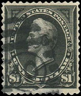 US Stamps Prices Scott Cat. # 261: 1894 US$1.00 Perry. Regency-Superior, Aug 2015, Sale 112, Lot 514