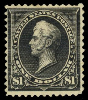 Prices of US Stamps Scott Catalogue # 261: US$1.00 1894 Perry. Daniel Kelleher Auctions, Jan 2015, Sale 663, Lot 1525