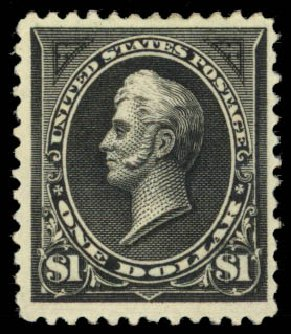 Costs of US Stamps Scott 261 - 1894 US$1.00 Perry. Daniel Kelleher Auctions, Jan 2015, Sale 663, Lot 1523