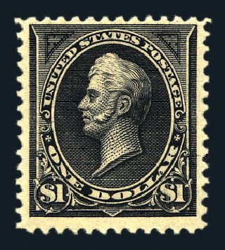 US Stamp Value Scott Cat. #261A: US$1.00 1894 Perry. Harmer-Schau Auction Galleries, Aug 2015, Sale 106, Lot 1678