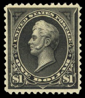 Value of US Stamps Scott Catalog 261A: US$1.00 1894 Perry. Daniel Kelleher Auctions, Aug 2015, Sale 672, Lot 2538