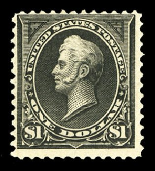 US Stamp Value Scott 261A: 1894 US$1.00 Perry. Cherrystone Auctions, Jul 2015, Sale 201507, Lot 2089