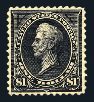 Cost of US Stamps Scott Cat. #261A - US$1.00 1894 Perry. Harmer-Schau Auction Galleries, Aug 2015, Sale 106, Lot 1679