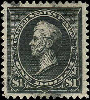Values of US Stamp Scott 261A: 1894 US$1.00 Perry. Regency-Superior, Aug 2015, Sale 112, Lot 519