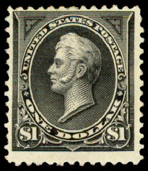 Prices of US Stamps Scott #261A: 1894 US$1.00 Perry. Daniel Kelleher Auctions, Aug 2015, Sale 672, Lot 2540