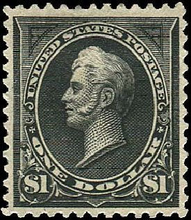 Value of US Stamps Scott Catalog # 261A - US$1.00 1894 Perry. Regency-Superior, Aug 2015, Sale 112, Lot 520