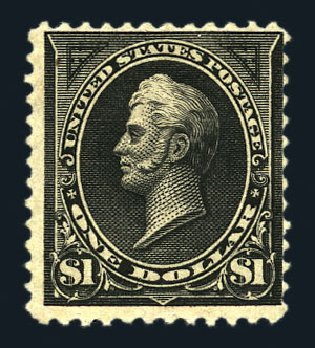 Costs of US Stamps Scott Cat. # 261A: US$1.00 1894 Perry. Harmer-Schau Auction Galleries, Aug 2015, Sale 106, Lot 1681