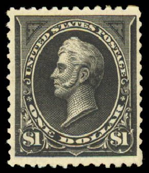 Cost of US Stamp Scott Cat. 261A: US$1.00 1894 Perry. Daniel Kelleher Auctions, Aug 2015, Sale 672, Lot 2541