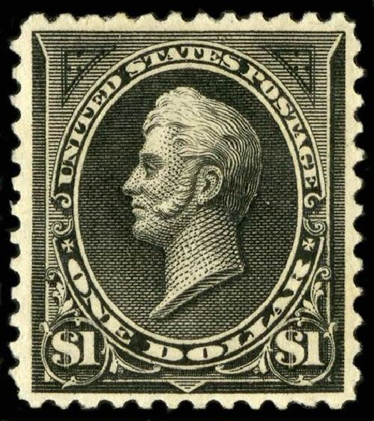 Value of US Stamps Scott Catalog # 261A - US$1.00 1894 Perry. Spink Shreves Galleries, Jul 2015, Sale 151, Lot 211