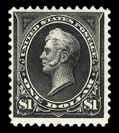 US Stamps Price Scott 261A - US$1.00 1894 Perry. Cherrystone Auctions, Jul 2015, Sale 201507, Lot 64