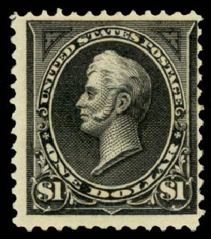 Prices of US Stamps Scott Catalogue 261A: US$1.00 1894 Perry. Daniel Kelleher Auctions, Aug 2015, Sale 672, Lot 2542