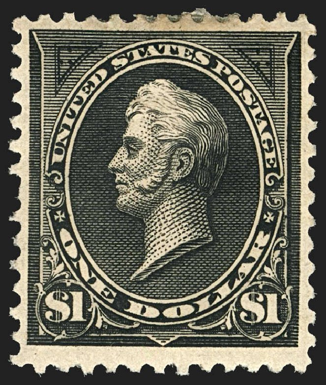 Values of US Stamp Scott Catalogue 261A: 1894 US$1.00 Perry. Robert Siegel Auction Galleries, Jul 2015, Sale 1107, Lot 352