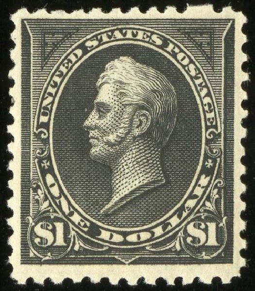 Value of US Stamps Scott #261A: US$1.00 1894 Perry. Spink Shreves Galleries, Jul 2015, Sale 151, Lot 212