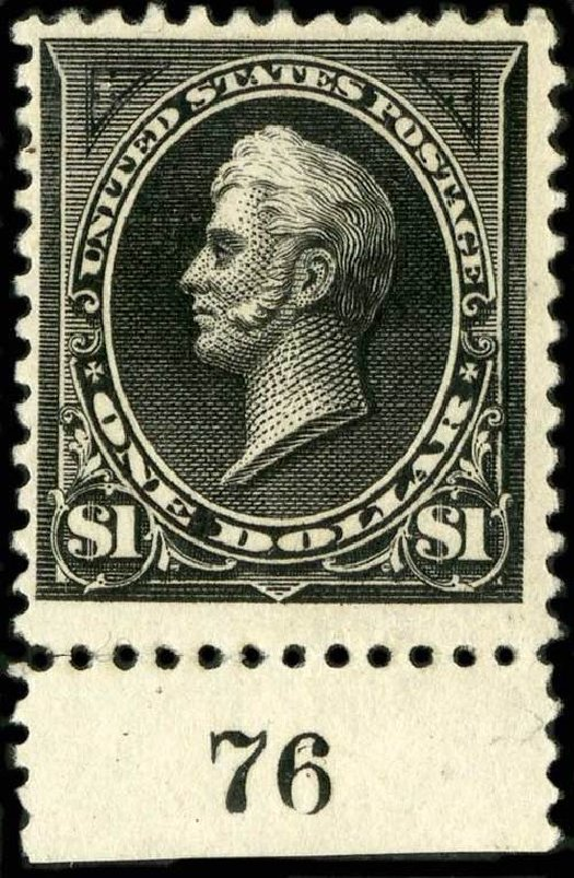 US Stamp Prices Scott Catalog #261A - 1894 US$1.00 Perry. Spink Shreves Galleries, Jul 2015, Sale 151, Lot 213