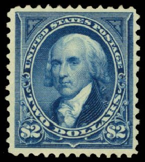 US Stamp Value Scott Catalog 262: US$2.00 1894 Madison. Daniel Kelleher Auctions, Jan 2015, Sale 663, Lot 1527