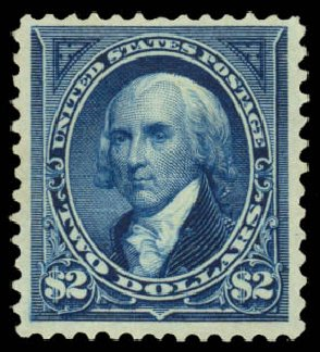Values of US Stamps Scott Catalogue 262 - 1894 US$2.00 Madison. Daniel Kelleher Auctions, Jan 2015, Sale 663, Lot 1528