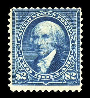Cost of US Stamp Scott Catalogue 262: US$2.00 1894 Madison. Cherrystone Auctions, Jul 2015, Sale 201507, Lot 2090