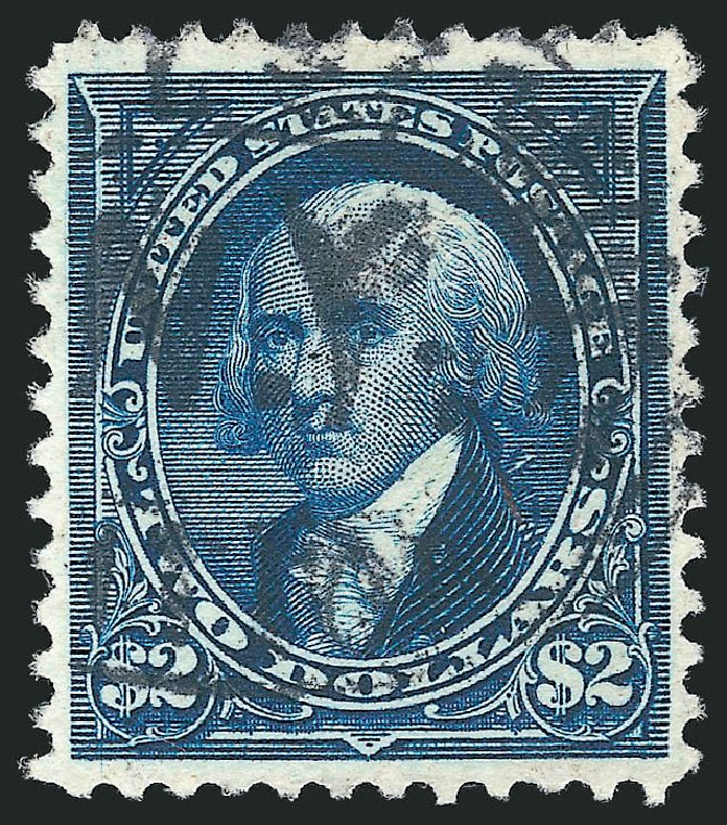 US Stamp Values Scott # 262 - 1894 US$2.00 Madison. Robert Siegel Auction Galleries, Apr 2015, Sale 1096, Lot 465