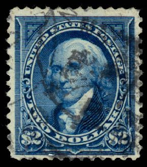 Prices of US Stamps Scott Catalog #262: 1894 US$2.00 Madison. Daniel Kelleher Auctions, Aug 2015, Sale 672, Lot 2543
