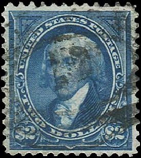 US Stamps Values Scott Catalogue # 262 - 1894 US$2.00 Madison. Regency-Superior, Aug 2015, Sale 112, Lot 526