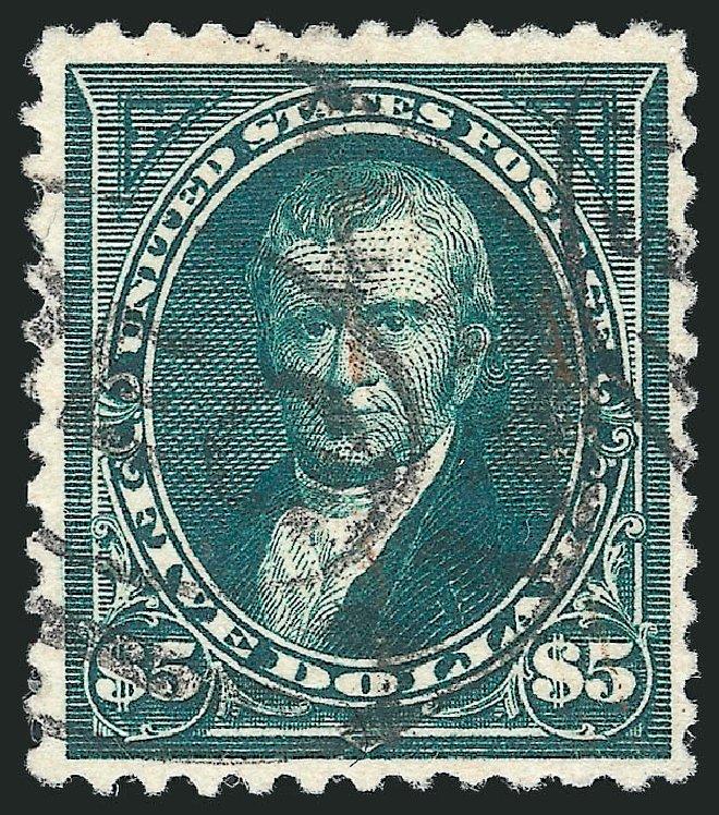 Values of US Stamp Scott Catalog # 263 - US$5.00 1894 Marshall. Robert Siegel Auction Galleries, Apr 2015, Sale 1096, Lot 467