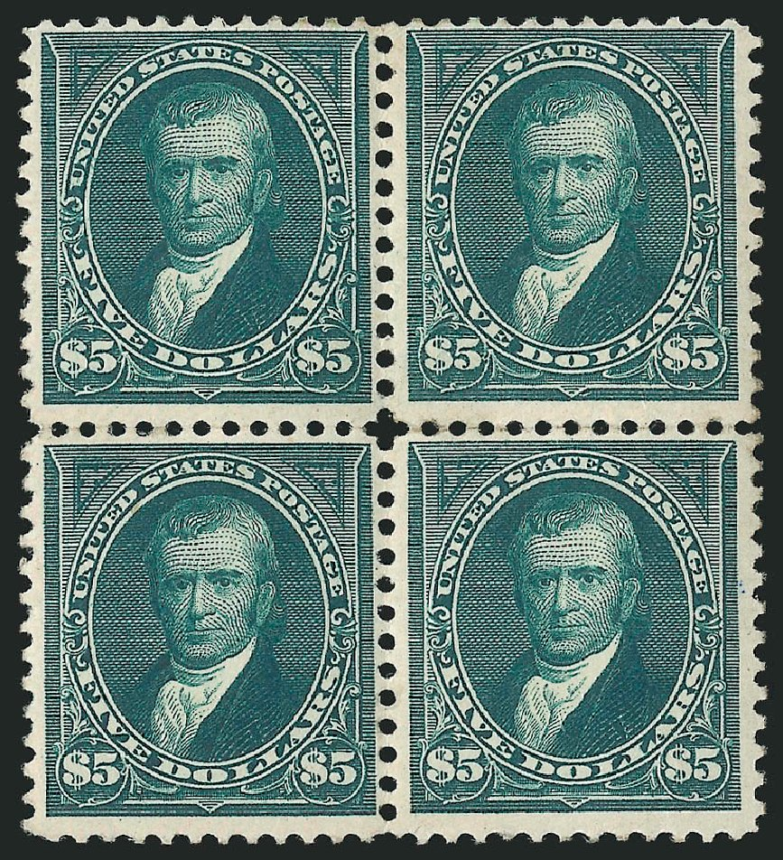 US Stamp Values Scott Cat. #263 - US$5.00 1894 Marshall. Robert Siegel Auction Galleries, Apr 2015, Sale 1096, Lot 468