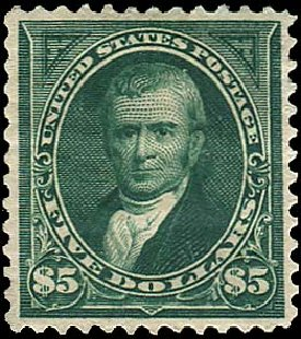 Costs of US Stamps Scott #263 - US$5.00 1894 Marshall. Regency-Superior, Aug 2015, Sale 112, Lot 530