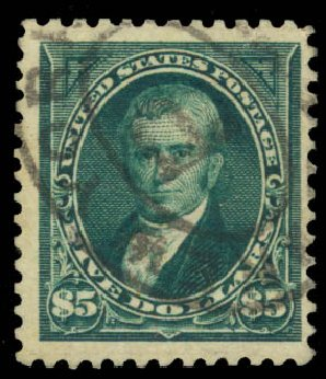 US Stamp Prices Scott Cat. #263 - US$5.00 1894 Marshall. Daniel Kelleher Auctions, Aug 2015, Sale 672, Lot 2544