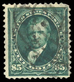 Value of US Stamp Scott 263 - 1894 US$5.00 Marshall. Daniel Kelleher Auctions, Aug 2015, Sale 672, Lot 2545