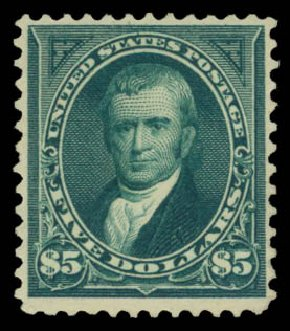 Price of US Stamps Scott Catalogue 263 - US$5.00 1894 Marshall. Daniel Kelleher Auctions, May 2015, Sale 669, Lot 2783