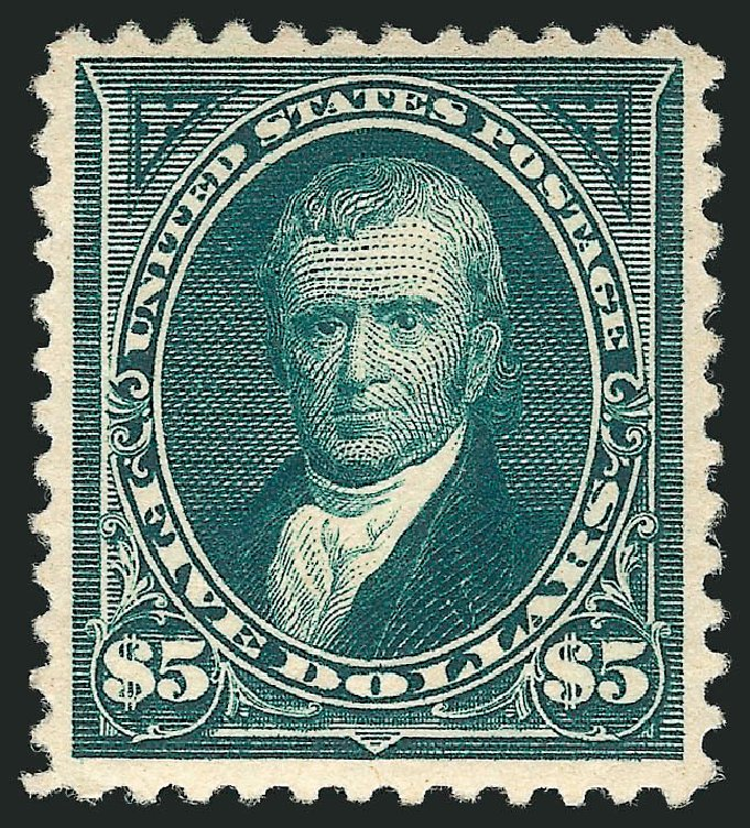 Value of US Stamps Scott # 263 - 1894 US$5.00 Marshall. Robert Siegel Auction Galleries, Apr 2015, Sale 1096, Lot 466