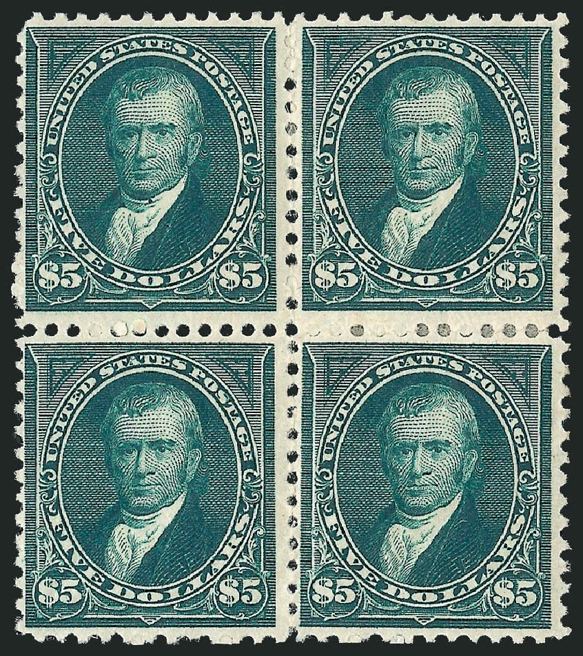 US Stamp Price Scott Catalog 263 - US$5.00 1894 Marshall. Robert Siegel Auction Galleries, Jun 2015, Sale 1100, Lot 56