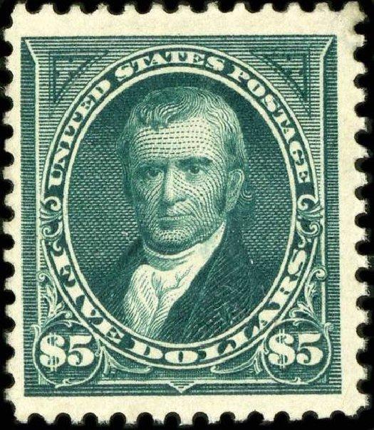 US Stamps Value Scott Cat. #263: US$5.00 1894 Marshall. Spink Shreves Galleries, Jul 2015, Sale 151, Lot 216