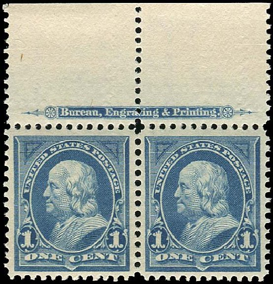 US Stamps Prices Scott Cat. #264: 1895 1c Franklin. Regency-Superior, Nov 2014, Sale 108, Lot 538