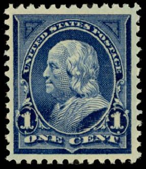 Cost of US Stamp Scott Cat. #264: 1c 1895 Franklin. Daniel Kelleher Auctions, May 2014, Sale 653, Lot 2179