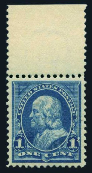 US Stamps Value Scott 264 - 1895 1c Franklin. Harmer-Schau Auction Galleries, Aug 2014, Sale 102, Lot 1900