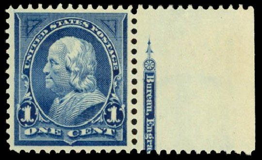 US Stamps Price Scott Catalogue # 264: 1c 1895 Franklin. Daniel Kelleher Auctions, Dec 2014, Sale 661, Lot 234