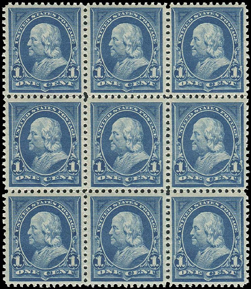 Value of US Stamp Scott Cat. # 264: 1895 1c Franklin. Regency-Superior, Aug 2015, Sale 112, Lot 534