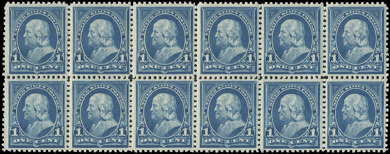 US Stamp Prices Scott Catalogue # 264 - 1895 1c Franklin. Regency-Superior, Aug 2015, Sale 112, Lot 535